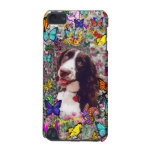 Lady in Butterflies - Brittany Spaniel Dog iPod Touch 5G Cover
