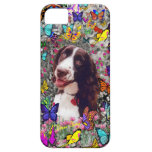 Lady in Butterflies  - Brittany Spaniel Dog iPhone 5 Covers