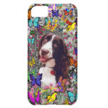 Lady in Butterflies - Brittany Spaniel Dog iPhone 5C Case