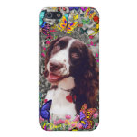 Lady in Butterflies - Brittany Spaniel Dog Case For iPhone 5