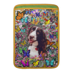 Macbook Air Sleeve with Brittany Spaniel Phone Cases design