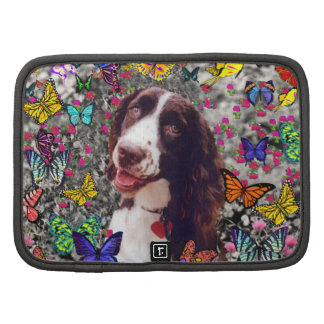 Lady in Butterflies - Brittany Spaniel Dog Organizers
