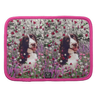 Lady in Flowers - Brittany Spaniel Dog Folio Planners
