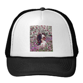 Lady in Flowers - Brittany Spaniel Dog Trucker Hat