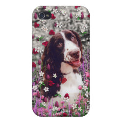 Case Savvy iPhone 4 Matte Finish Case with Brittany Spaniel Phone Cases design