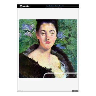 Lady in Fur by Edouard Manet PS3 Slim Console Skin