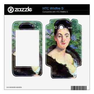 Lady in Fur by Edouard Manet Decals For HTC Wildfire S