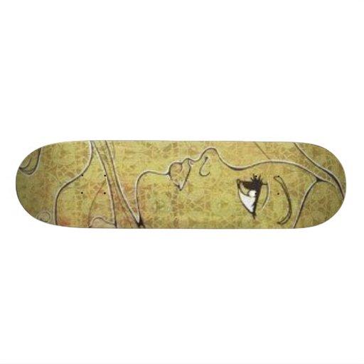 Lady in Grain Custom Skateboard