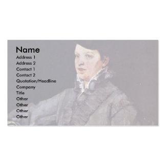 Lady In Gray By Trübner Wilhelm Business Card Templates