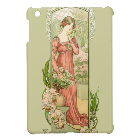 Lady in greenhouse cover for the iPad mini