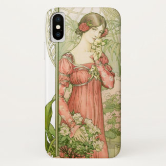 Lady in greenhouse iPhone x case