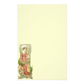 Lady in greenhouse stationery