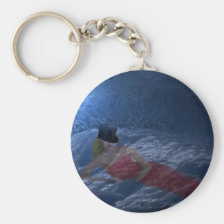 Lady in ice keychain