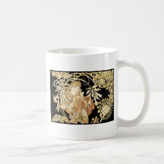 Lady in Jasmine Vines Coffee Mug