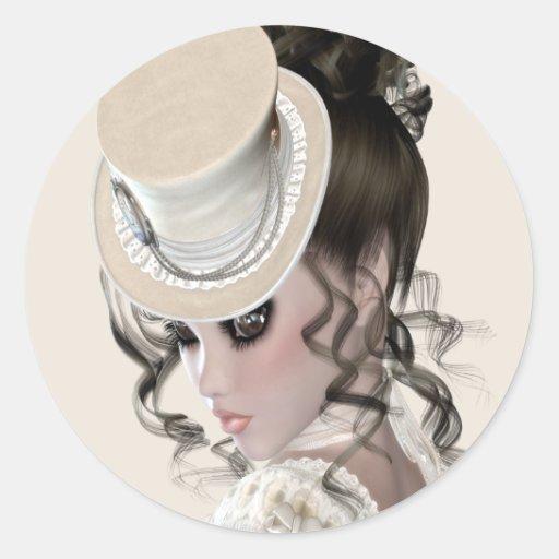 Lady In Lace Sticker