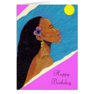 Lady In Night Birthday Card