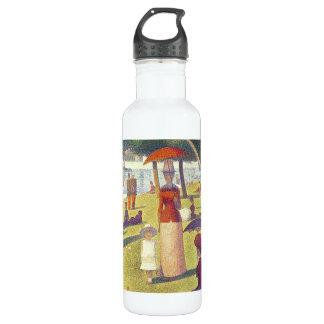 Lady in Orange 24 oz. White Water Bottle