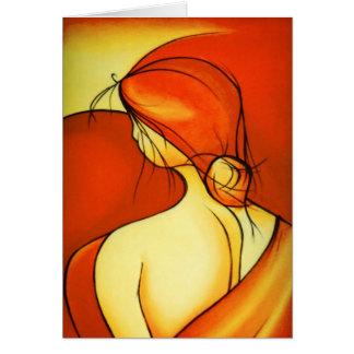 Lady In Orange blank notelet / card