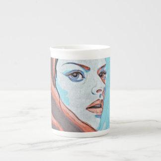Lady In Orange Hood Tea Cup