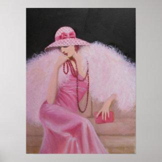 Art Deco Lady Cake : Pink Posters, Pink Prints, Art Prints, & Poster Designs ...