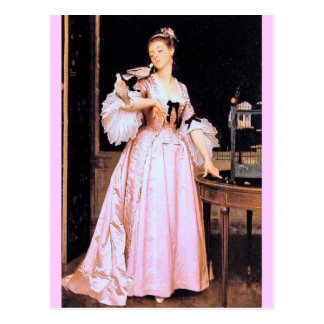Lady in Pink - Caraud Postcard