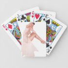 Lady In Pink Pin Up Bicycle Playing Cards