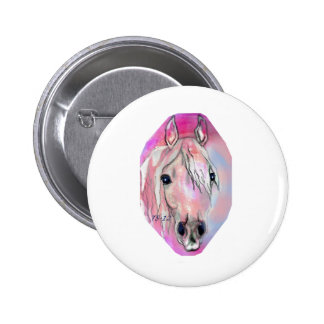 Lady in Pink Pinback Button