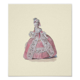 Lady in Pink ~ Print Fashion Plate