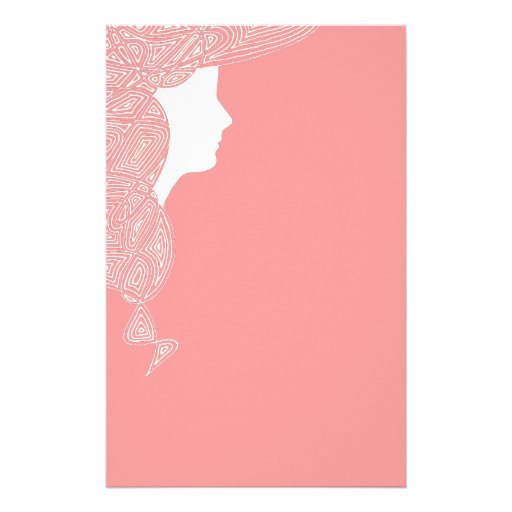 Lady in Pink Custom Stationery