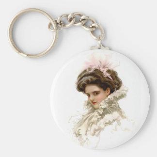 Lady in Profile Keychain