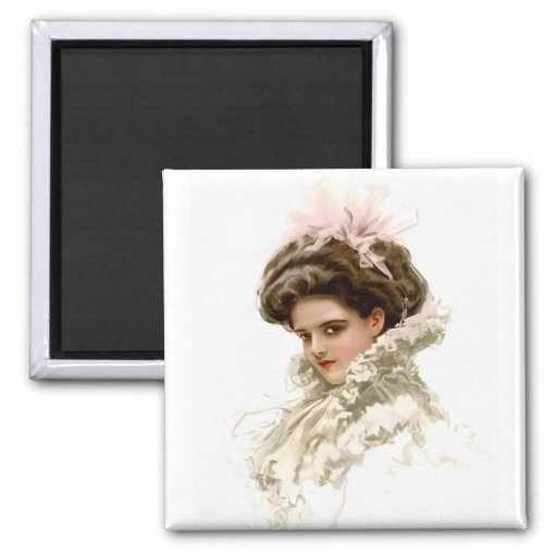 Lady in Profile Magnets