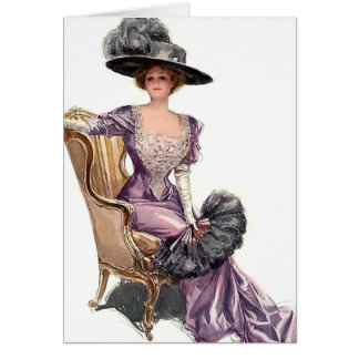 Lady in Purple Greeting Card
