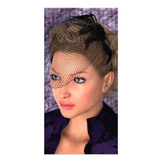 Lady in Purple Card