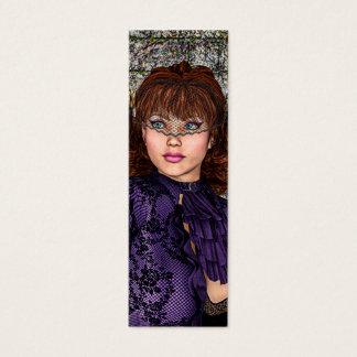 Lady in Purple Mini Business Card