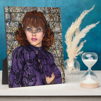 Lady in Purple Photo Plaque