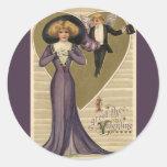 Lady in Purple Sticker