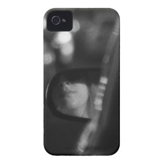 Lady In Rear View Mirror Black White Case-Mate iPhone 4 Case