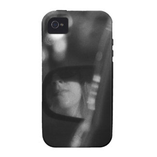 Lady In Rear View Mirror Black White iPhone 4 Case