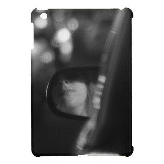 Lady In Rear View Mirror Black White iPad Mini Cover