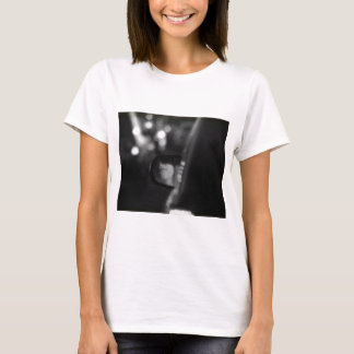 Lady In Rear View Mirror Black White T-Shirt