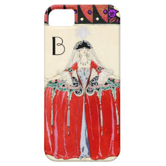 LADY IN RED,BEAUTY FASHION COSTUME DESIGN MONOGRAM iPhone 5 CASE