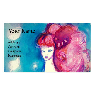 LADY IN RED ,Beauty,Salon ,Spa ,Makeup Artist Business Card