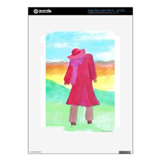 lady in red big iPad 3 decal