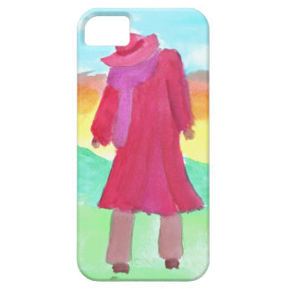 lady in red big iPhone SE/5/5s case
