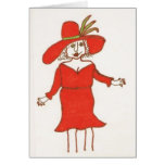 Lady In Red Birthday Card