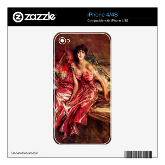 Lady in Red by Giovanni Boldini iPhone 4S Skin