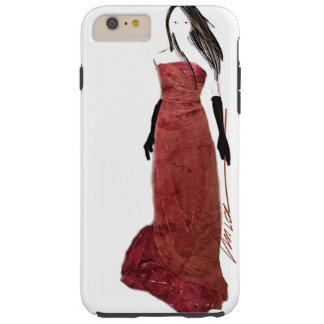 lady in red by unica tough iPhone 6 plus case