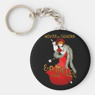 Lady in Red Dark Keychain
