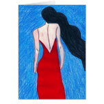 lady in red greeting cards