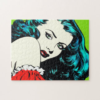 Lady In Red - Jigsaw Puzzle with Gift Box